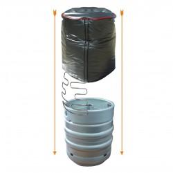 9 - 11 Gallon Vertical Cask Cooler with Plain Ends