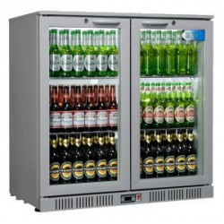 Coolpoint HX200 Double Hinged Door Grey Bottle Cooler