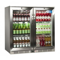 Coolpoint HXST210 Double Door Hinged Cooler - Stainless Steel