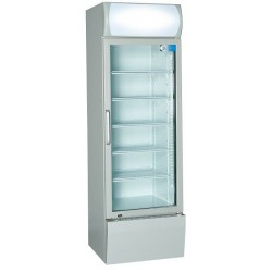 Coolpoint CX404 Single Door Upright Cooler Grey