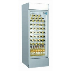 Coolpoint CX406 Single Door Upright Cooler Grey - Wine Shelves