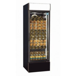 Coolpoint CX407 Single Door Upright Cooler Black - Wine Shelves