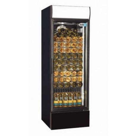 Coolpoint CX407 Single Door Upright Cooler Black - Wine Shelves