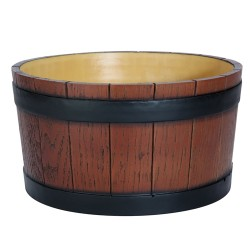 Barrel End Ice Tub Wood Grain - 11 litre / 19 pt