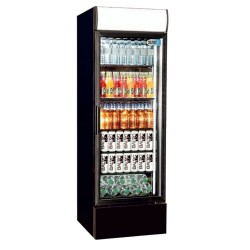 Coolpoint CX405 Single Door Upright Cooler Black