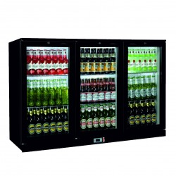 Coolpoint HX301 Bottle Cooler Triple Hinged Door Black